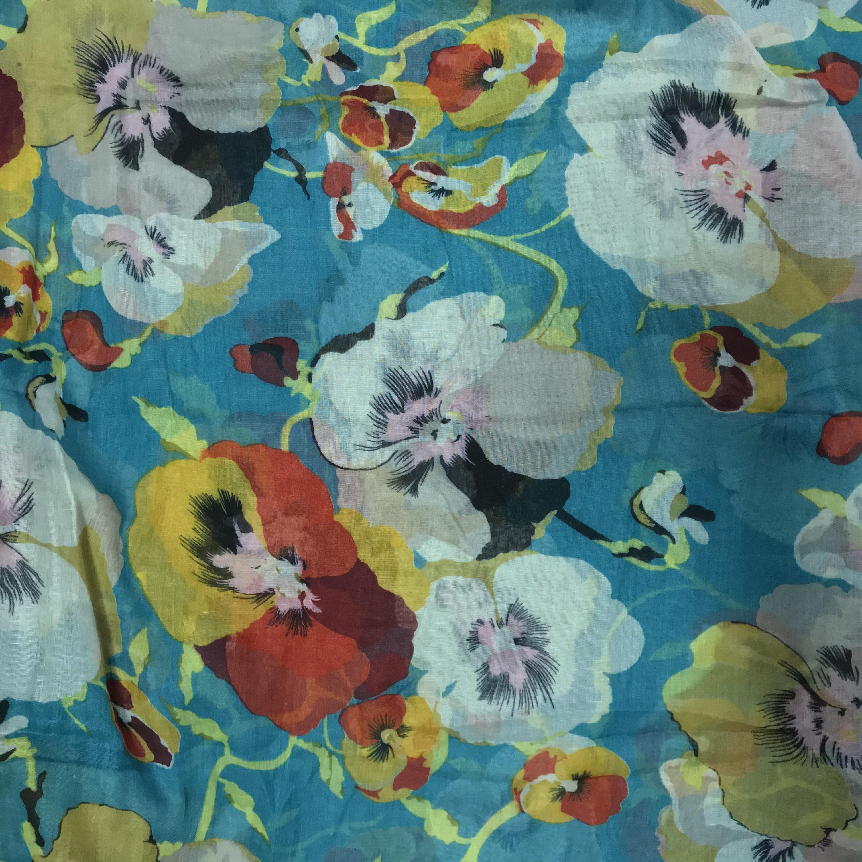 Flower - multifunkčná priedušná šatka - tyrkysová
