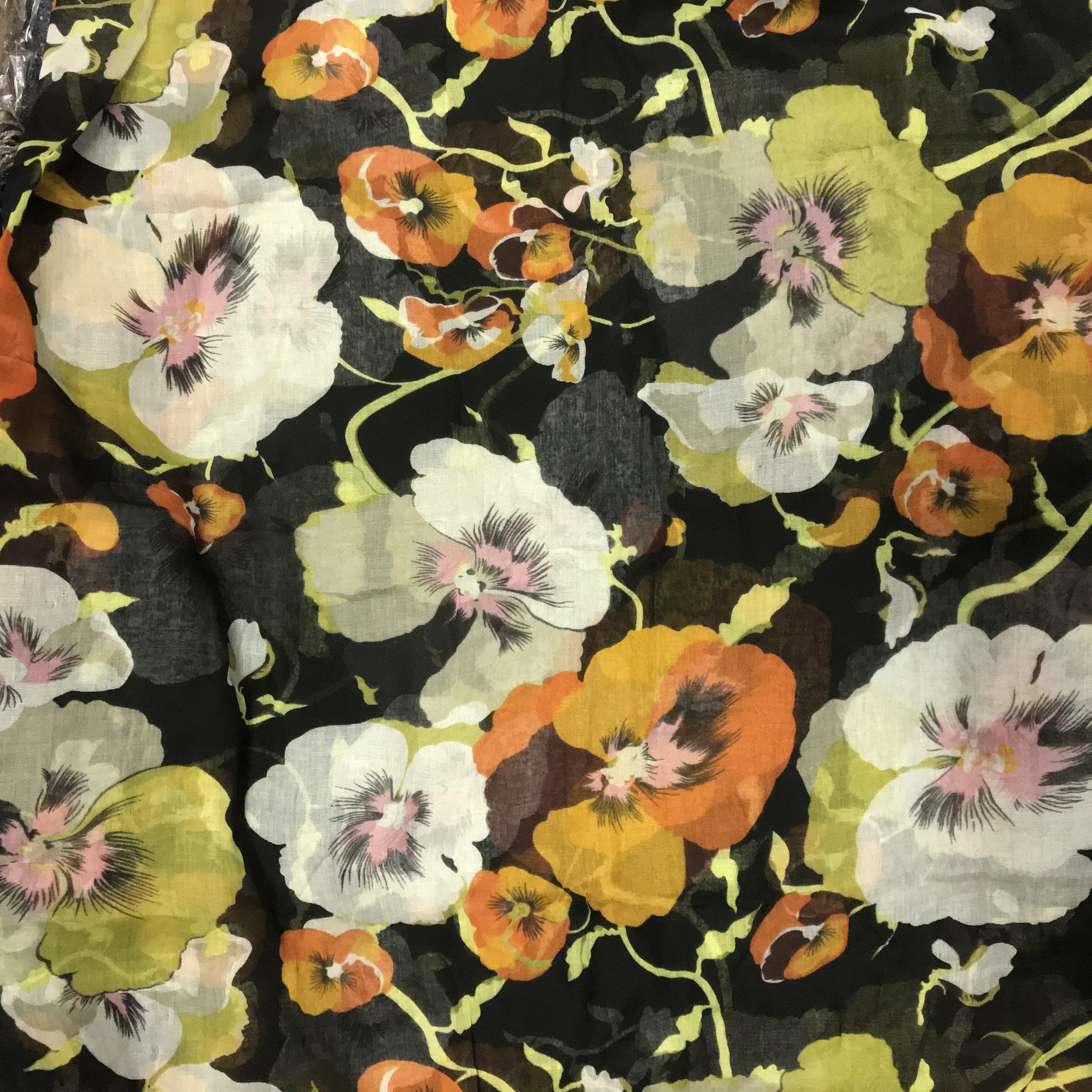 Flower - multifunkčná priedušná šatka - čierna